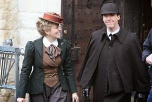 Sherlock-victorian-special-Amanda-Abbington-and-Benedict-Cumberbatch1